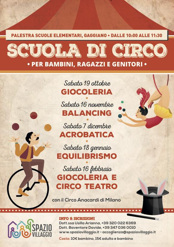 Giocoleria, balancing, acrobatica, equilibrismo, giocoleria e irco teatro ecco gli appuntamenti di Spazio Villaggio con l'arte circense