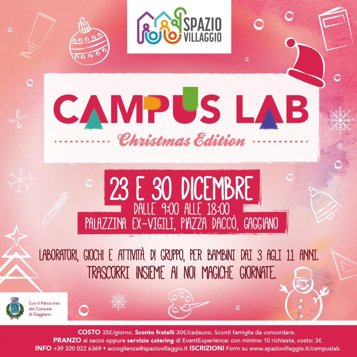 Campus Spazio Villaggio dicembre 2019
